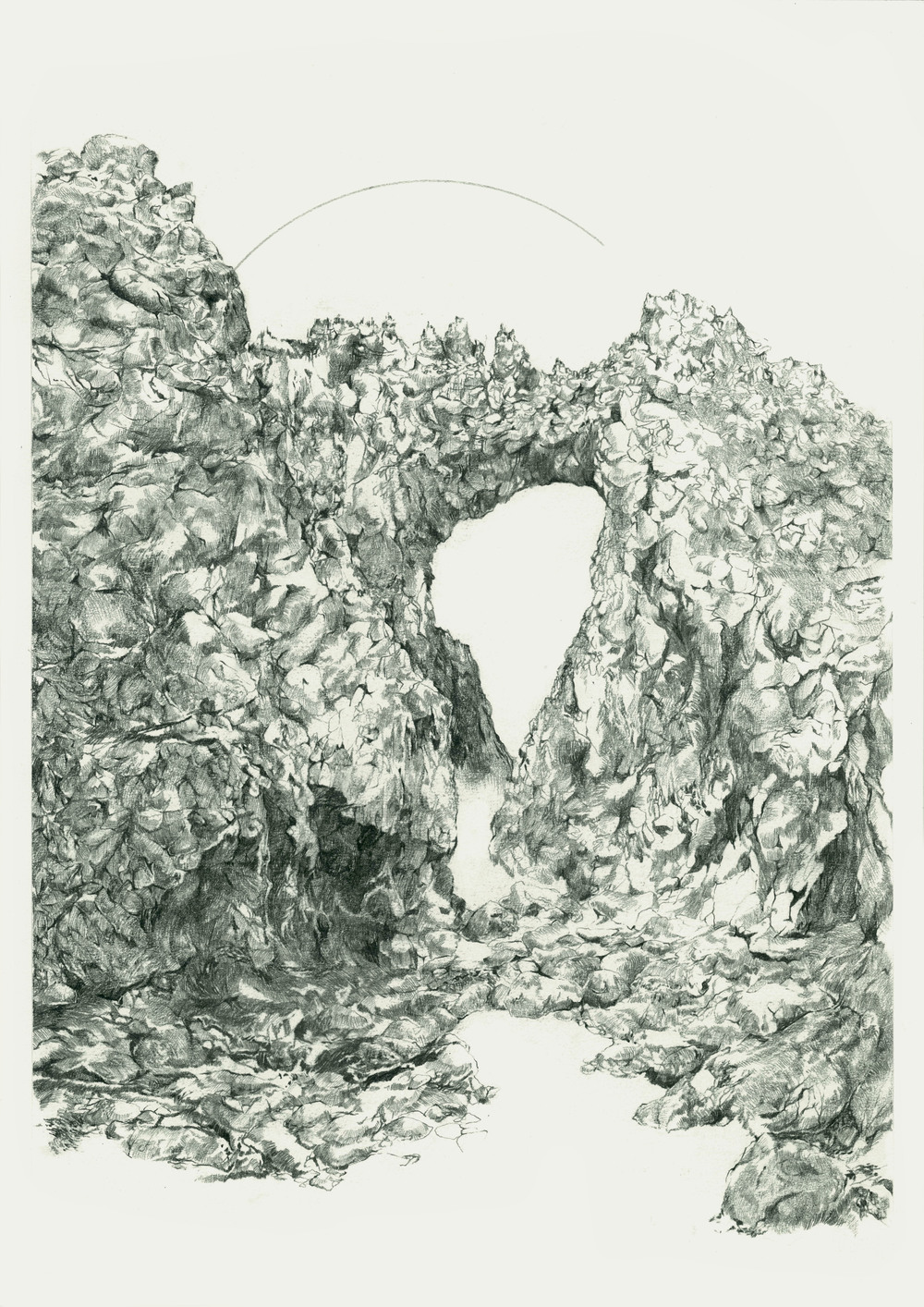 The Arch at the West End / Graphite on Paper