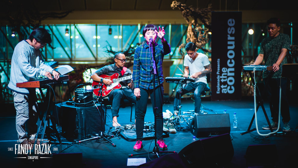 Riot !n Magenta performing at the Esplanade (Photo credit: Fandy Razak)