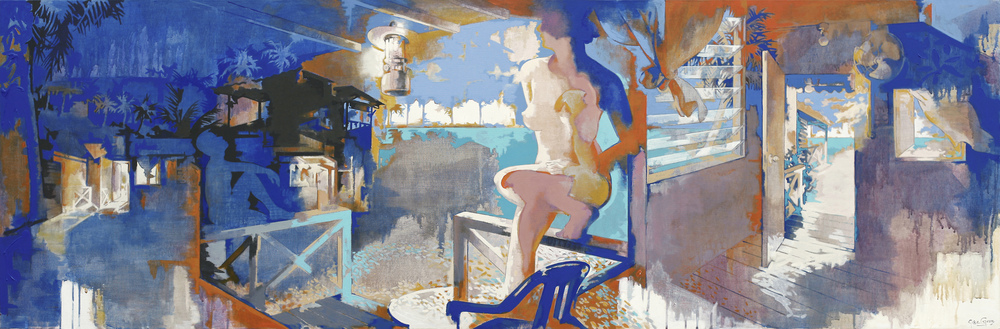 Sunny Day and the Blue Night (2012), Acrylic on Canvas