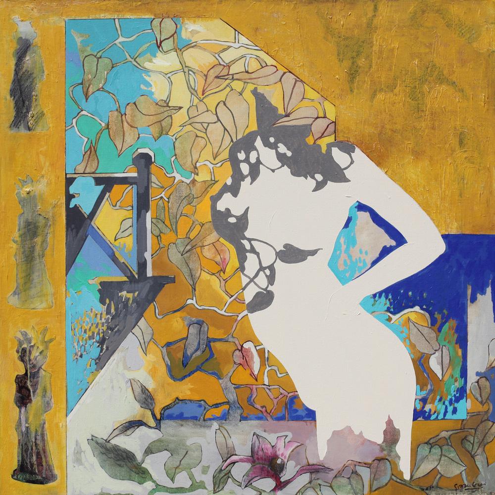 Sunny Day's Garden (2002), Acrylic on Canvas