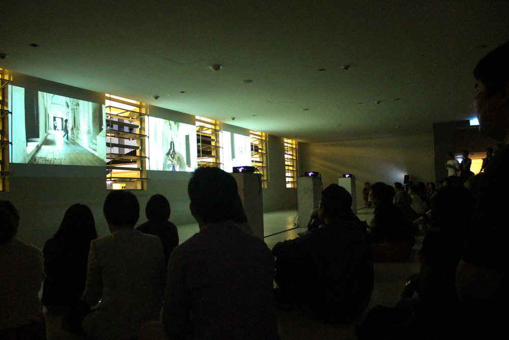 The performance ended with a screening of Dancing Dawn: The Temple Reimagined.