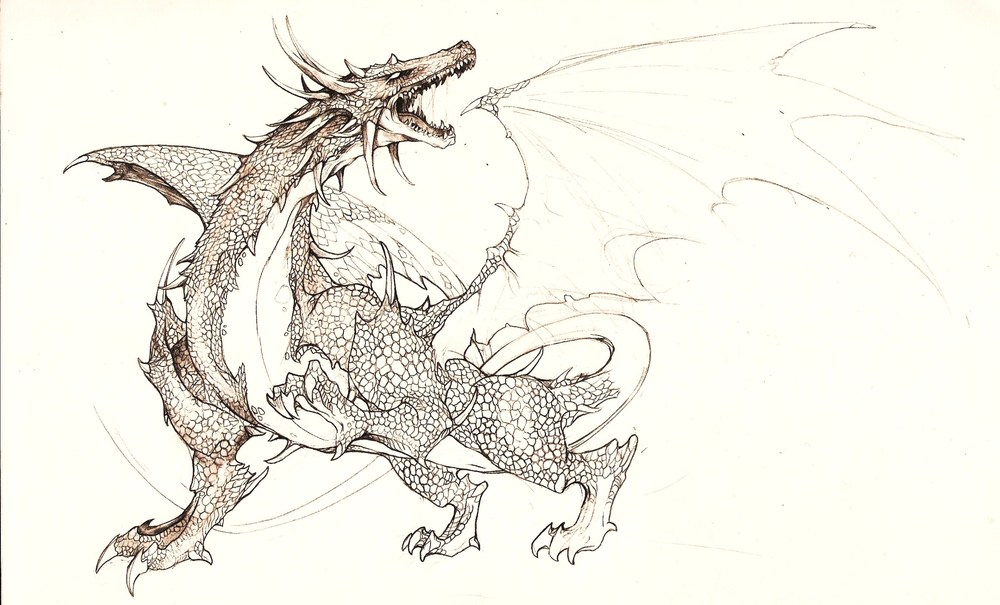 Dragon 03, pencil on paper