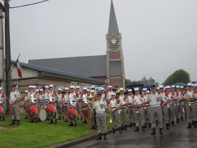 The French Foreign Legion in attendance at Belloy-en-Santerre
