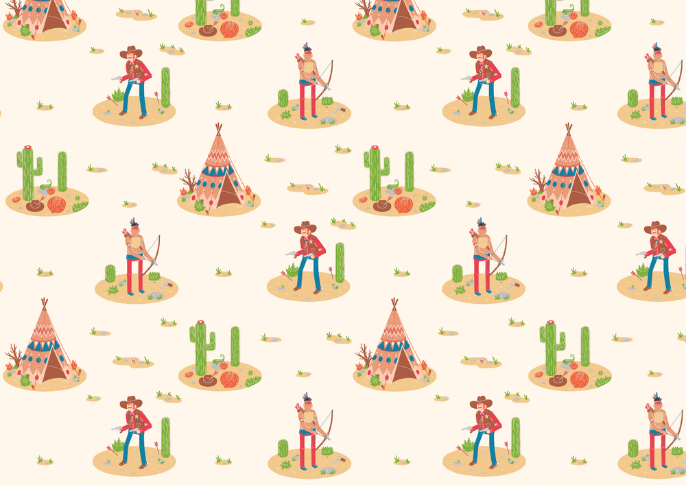 Cowboys & Indians Wallpaper