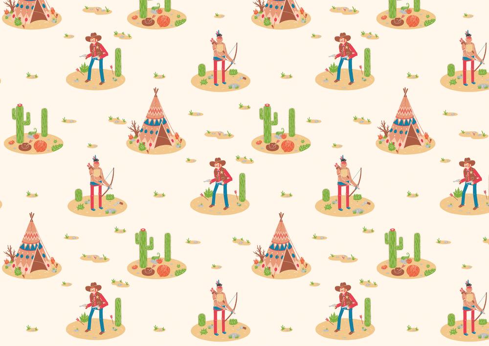 Cowboys & Indians Wallpaper