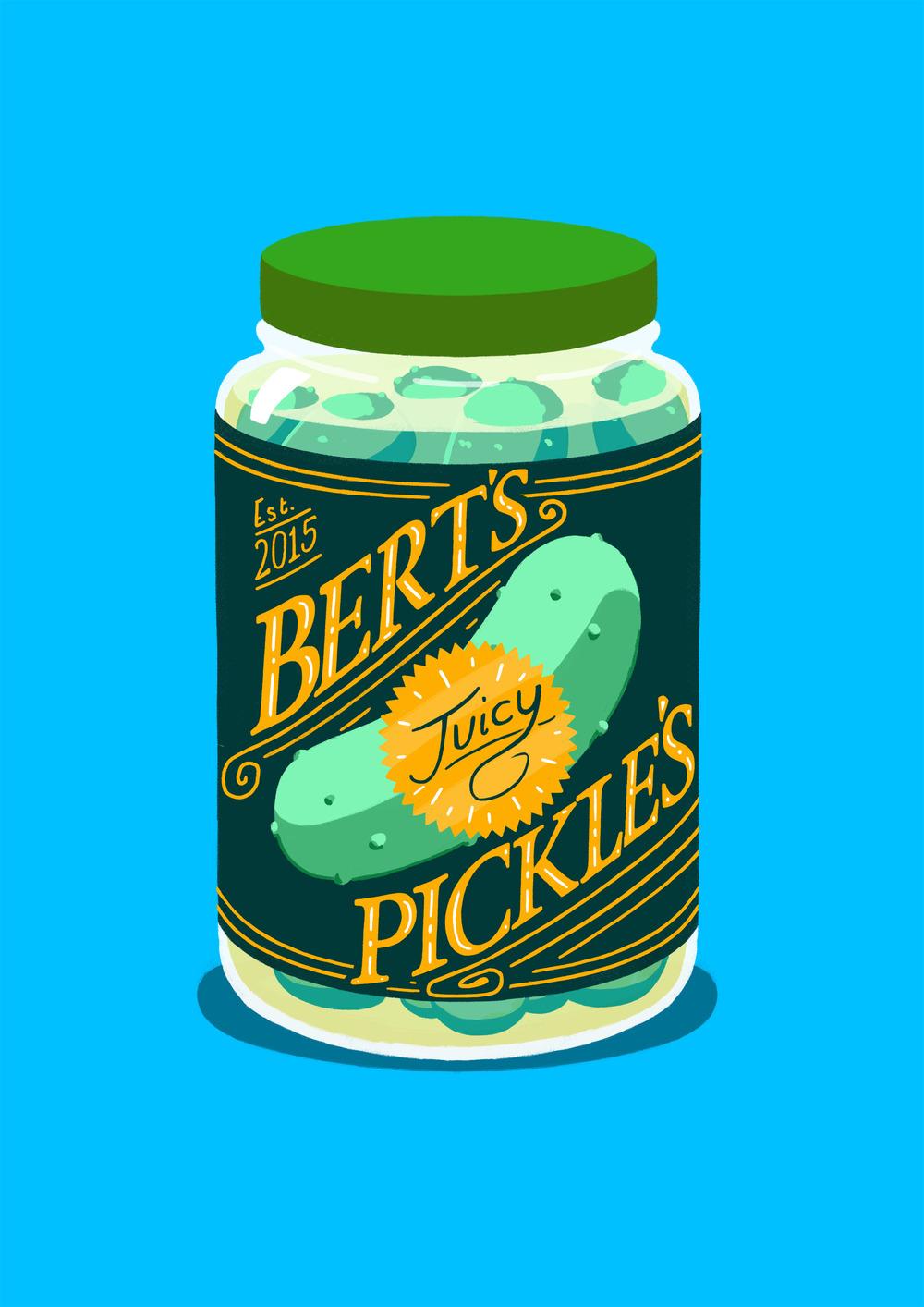 Bert's Juicy Pickles!