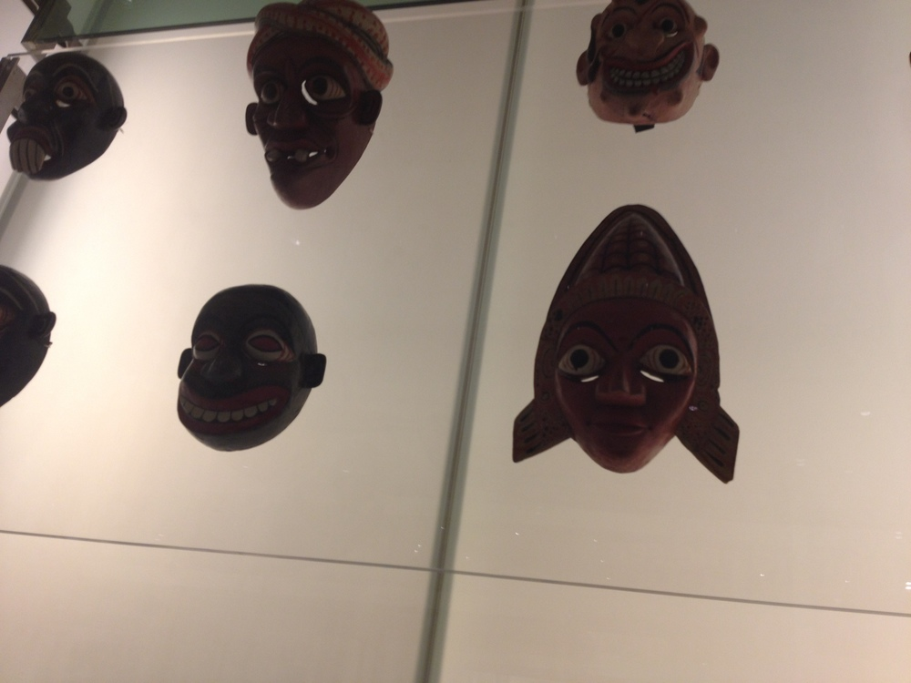 SOME BALINESE MASKS, FROM THE BRITISH MUSEUM, WHICH INFLUENCED THE ALIEN'S DESIGN