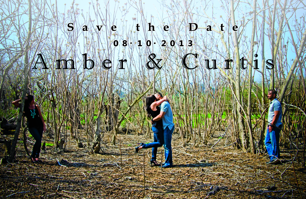 Front of the Save the Date postcards