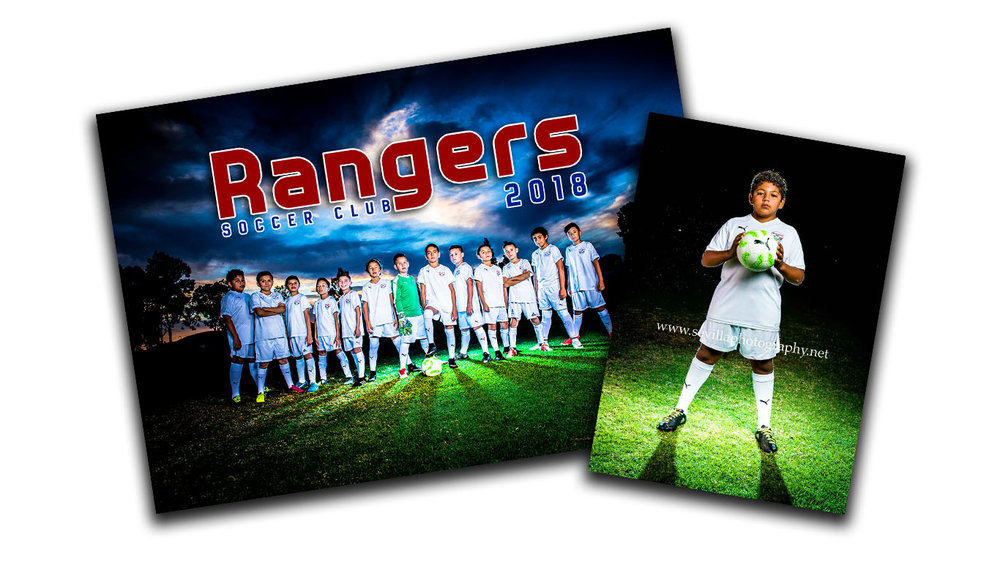 Under the Lights Package - (1) 10x13 Team Photo(1) 5x7 individual pose of your player profile facing the camera