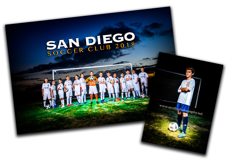 Under the Lights Package - (1) 10x13 Team Photo(1) 5x7 individual pose of your player facing the camera