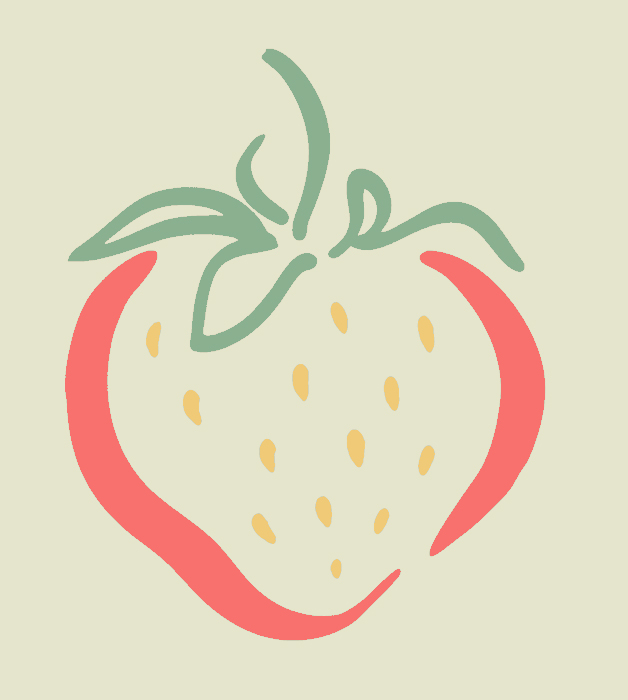 Strawberry Book Illustration