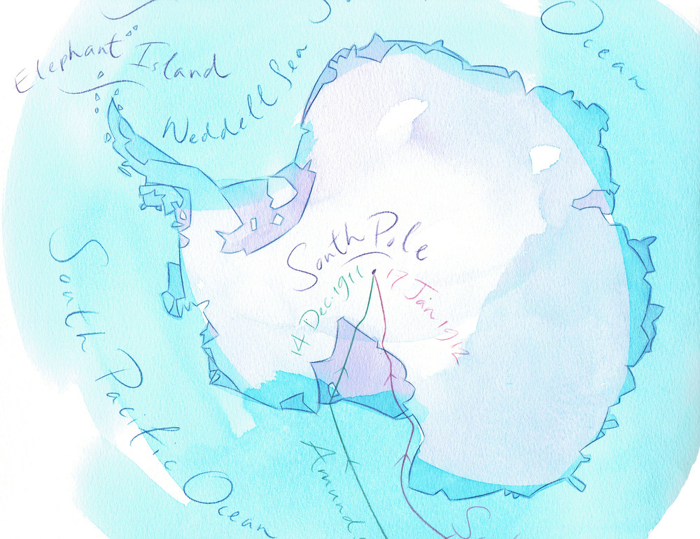 The South Pole for Geographical magazine.