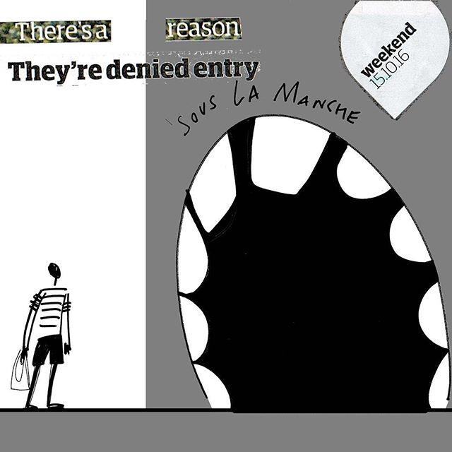 #daviddavies #ukpolitics #theguardian #magazine #word #mayhem #weekend #illustration #recycled #collage #migrantcrisis
