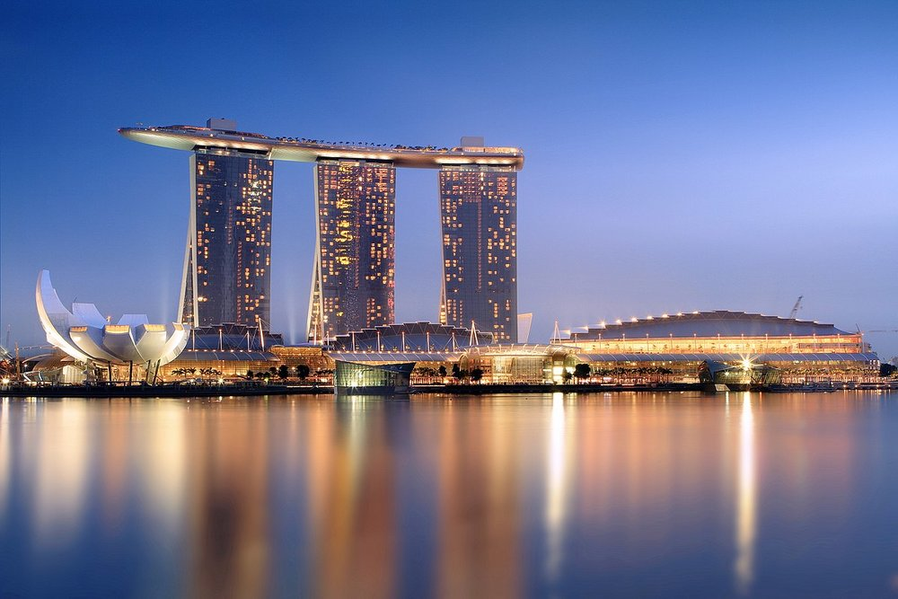 The Marina Bay Sands, which opened in 2010