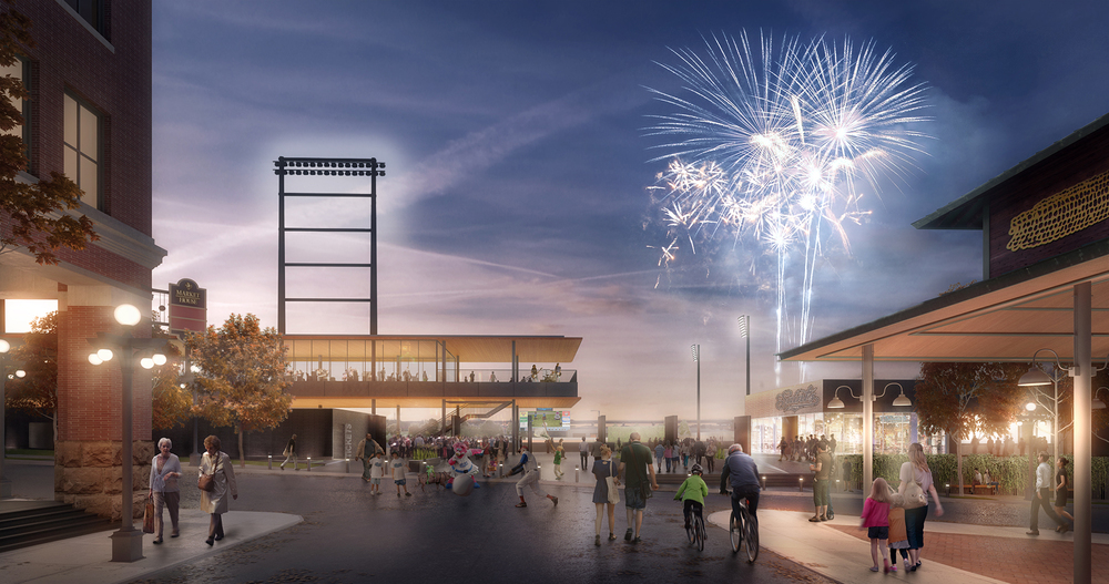 Lowertown Ballpark Rendering by Snow Keilich Architects