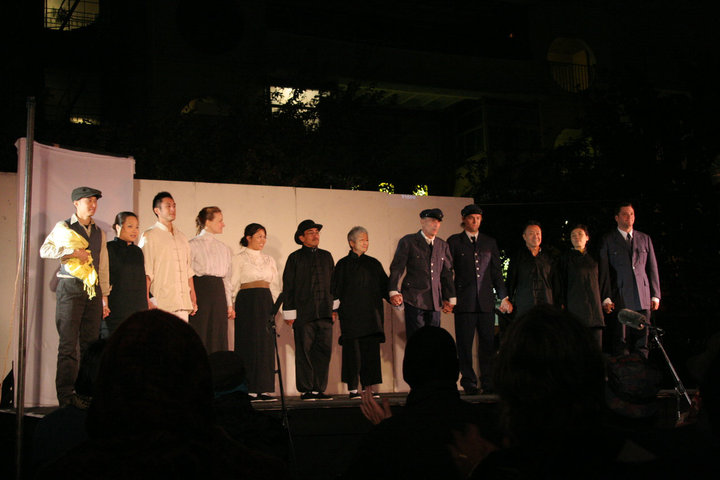 The cast of PAPER ANGELS.