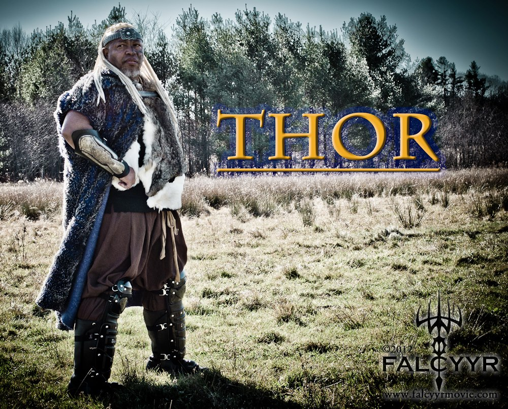 The director Ahura, shown in the photo, will be playing Thor the God of Thunder in this film. They have done some filing over the past few years and hope to finish by fall of this year, 2014.