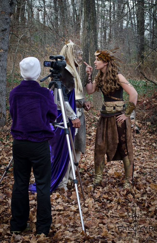 Ahura Diliiza playing Thor and me playing Artemis. I get a little snappy with Thor and tell him who is boss......!!!! I am wearingmy custom breeches made by Aanstadt-Das. They are made with deerskin leather and hand stitched details.Click here to check out their listing on Etsy.Photo courtesy of Unicovia Pictures.