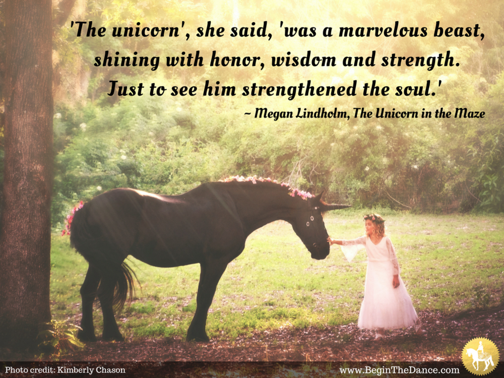 Inspiring Unicorn Quote Begin The Dance Begin The Dance With