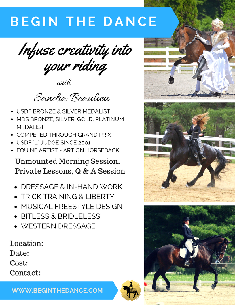 Sandra Beaulieu Dressage Clinic Flier.png