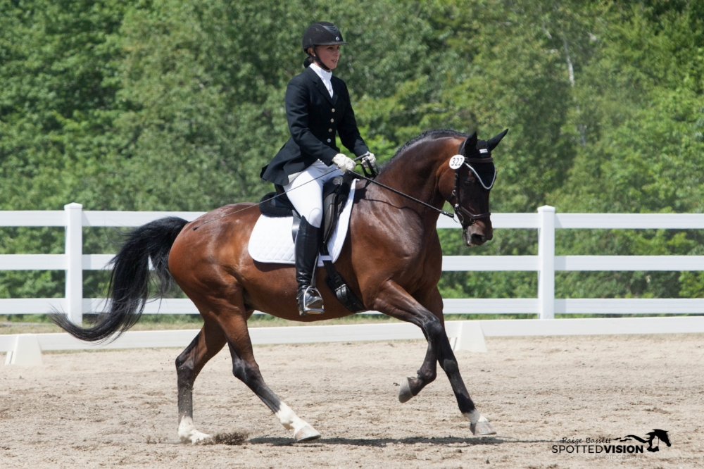 Sandra Beaulieu and Rovandio showing a Second Level Musical Freestyle.   Photo taken by Spotted Vision Photography.