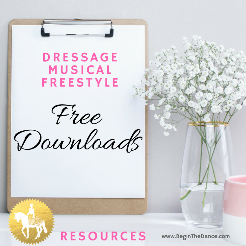 Dressage Musical Freestyle free downloads checklist diagrams online resources Begin the Dance Kur Design.png