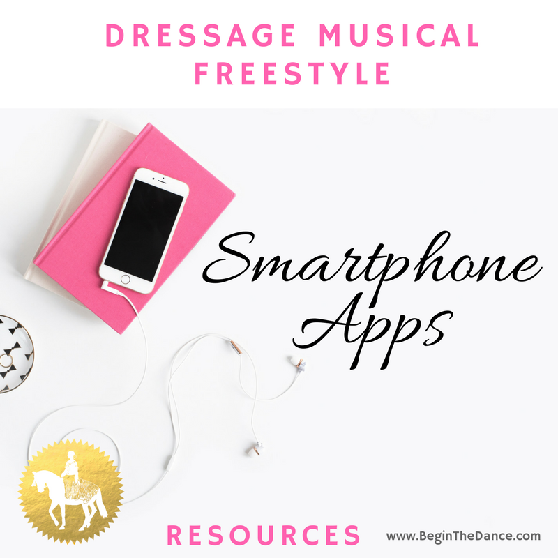 Dressage Musical Freestyle Smartphone Apps online resources Begin the Dance Kur Design.png