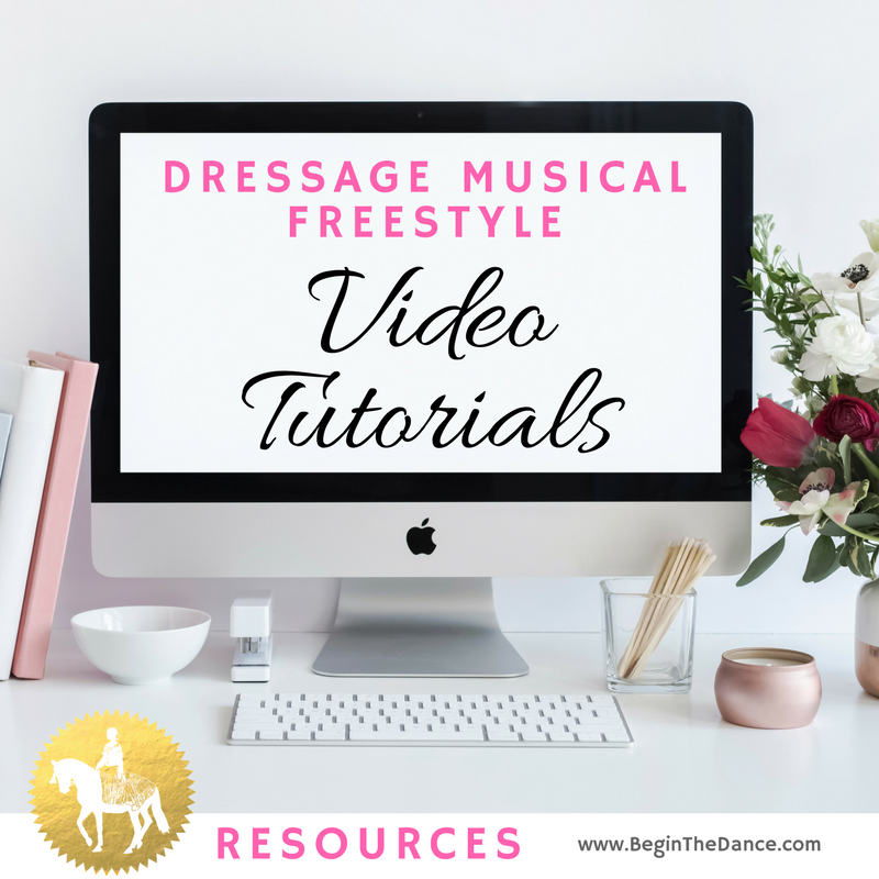 Dressage Musical Freestyle Video Tutorials YouTube online resources Begin the Dance Kur Design.png