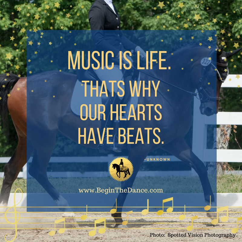 Learn how to find music for your dressage  musical freestyle.