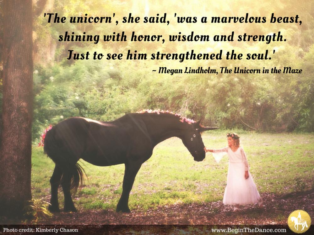 Fantasy Photo Unicorn Fairy Princess Medieval Friesian Fairytale Horse Magical Quotes Sandra Beaulieu.png
