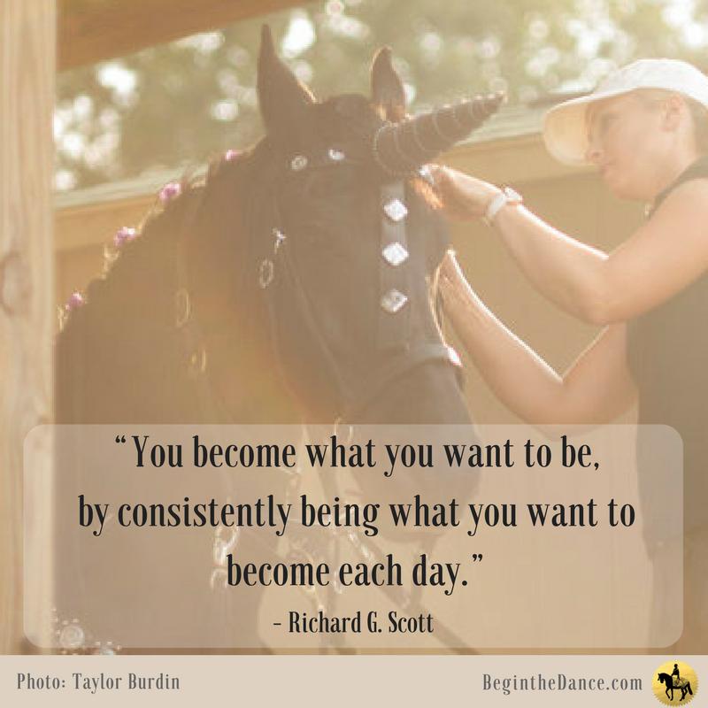 Horse Quotes Richard Scott Equine Inspiring Unicorn Friesian Sandra Beaulieu Begin the Dance Motivation Success.png