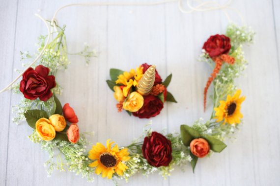 unicorn set flower garland fall autumn thanksgiving colors.jpg