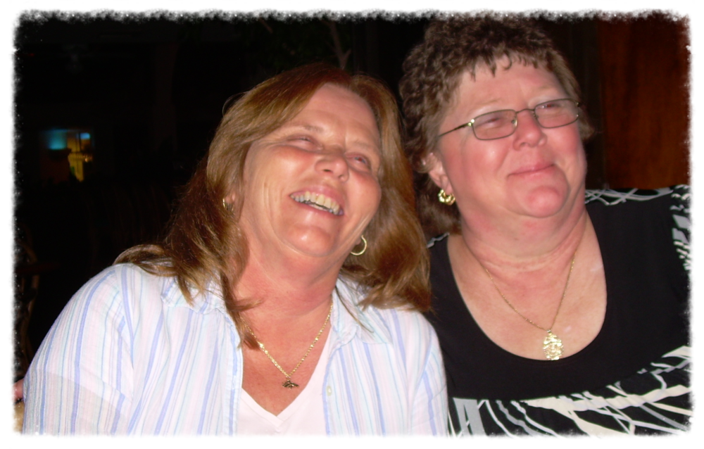Vicki on the right and her best friend Lynne.