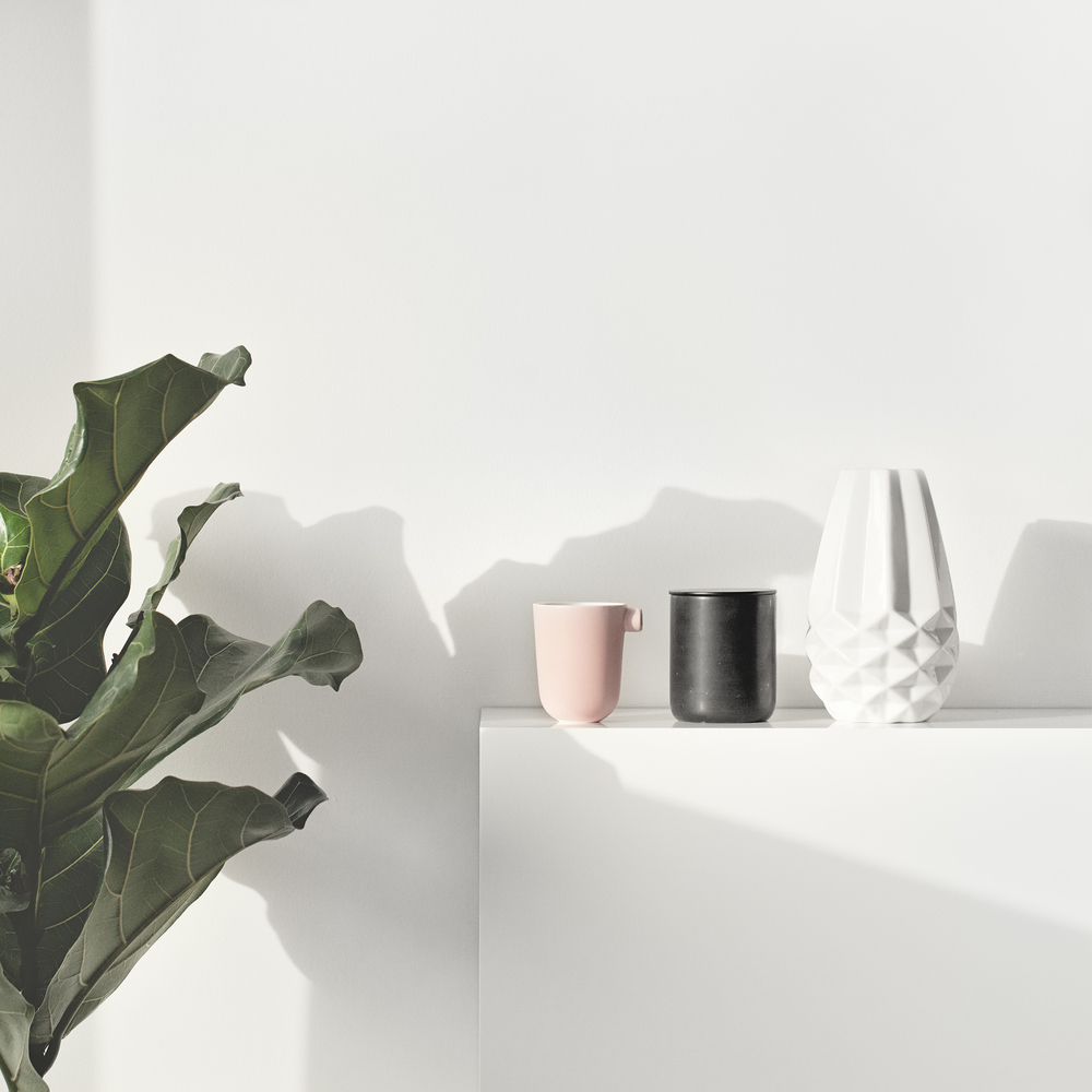 Pink Ceramic Cup from   Serax   | Black Marble Candle from   Lovely Pair