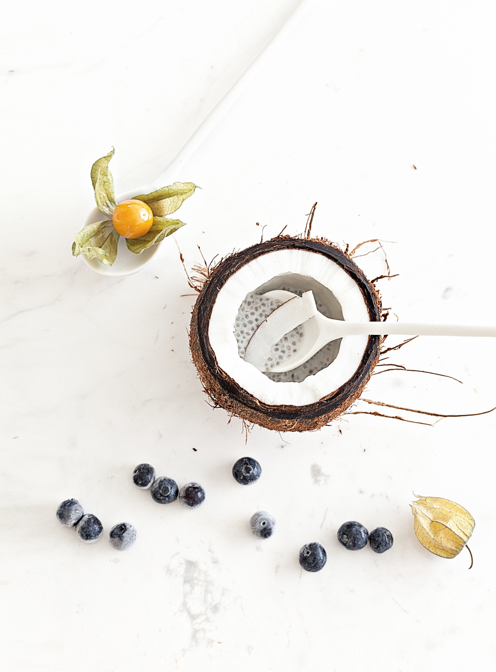 Coconut Chia Pudding | Marble Table and Ceramics & Marble Tableware from  Serax Belgium