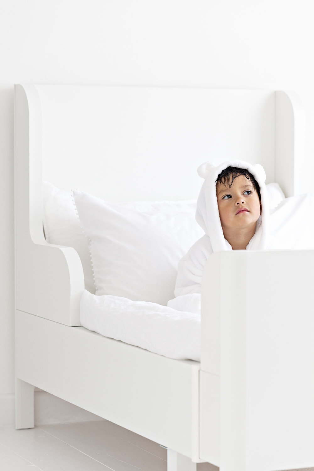Kids Hydrocotton Robe from   The Little White Company   | Avignon Bedding from   The White Company