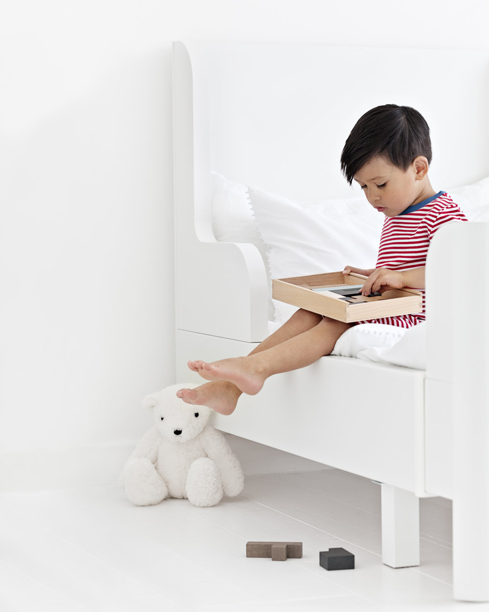 Multi-Pack Pyjamas / White Vintage Bear / Wooden Puzzles from   The Little White Company   | Avignon Bedding from   The White Company