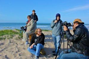 Shooting on Ventura beach