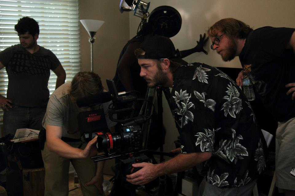 Setting up the shot for DOG