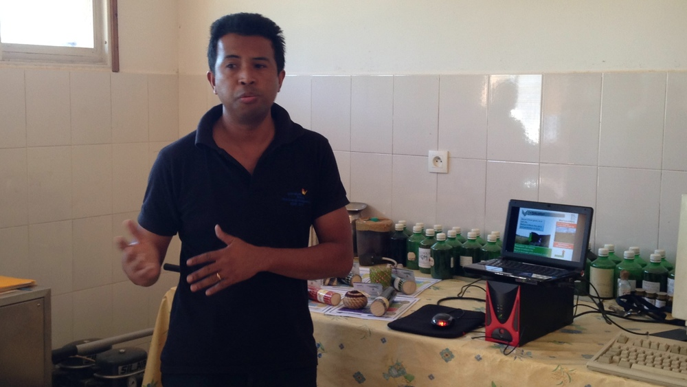Manche presented the next stage of growth in his vanilla and lemon grass essential-oils business.
