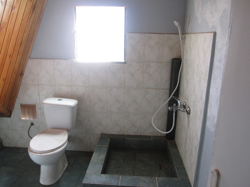 Teen girls' indoor toilet and shower