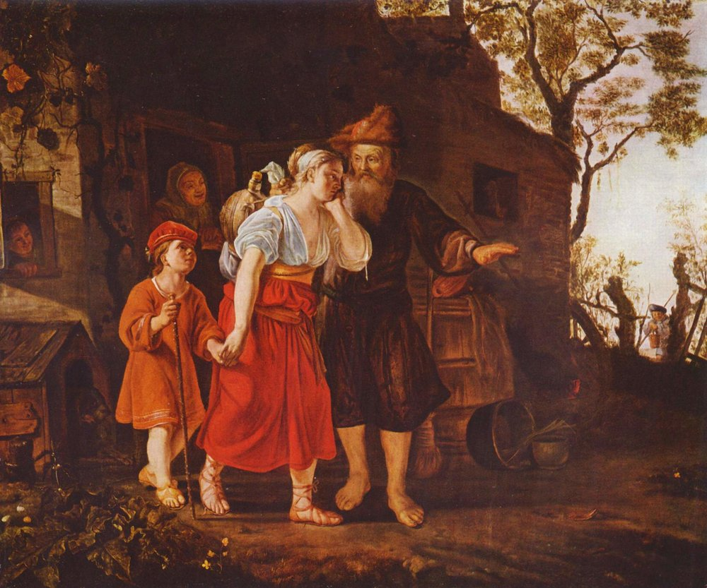 The Expulsion of Hagar  by Jan Victors, ca.1635. Museum of Fine Arts, Budapest.