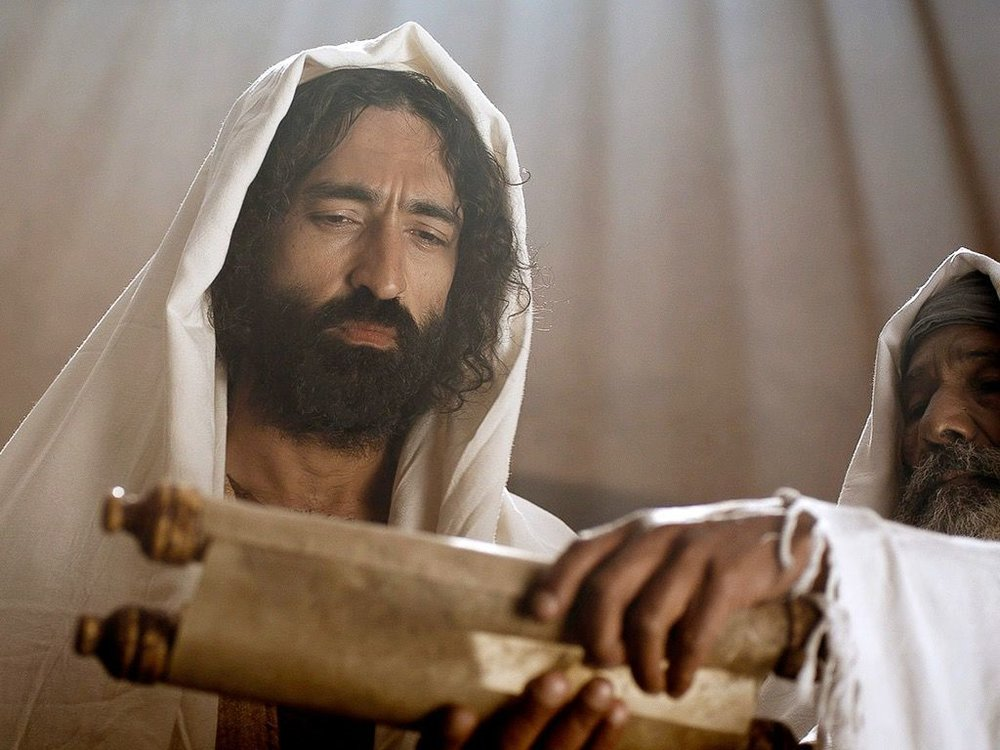 """Are you the Prophet, the King we've been waiting for, the One Moses wrote about?"", Jesus in the synagogue, Free Bible Images"