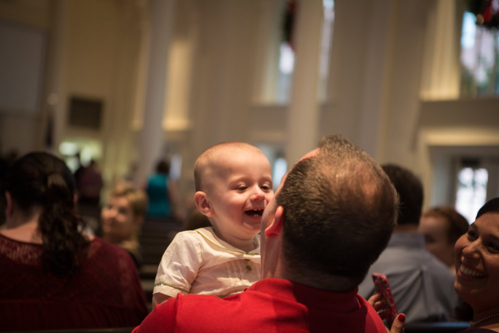 A young churchgoer makes things merry and bright on Christmas Eve. Our Family worship services at 2:30pm & 4pm are designed for all ages.