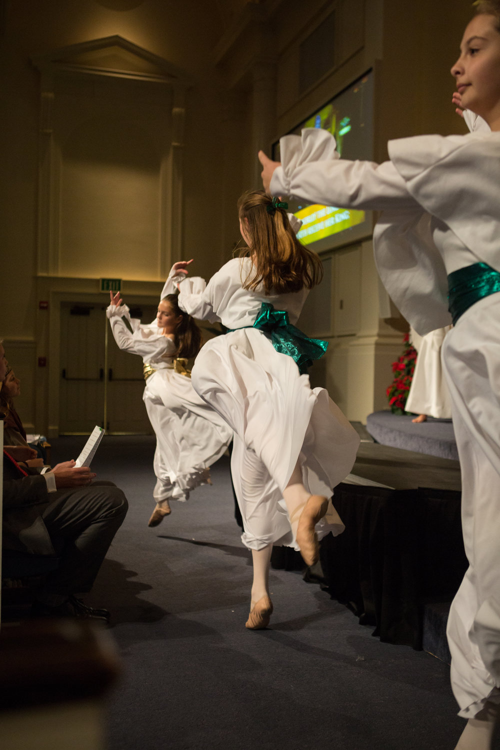 Liturgical dancers celebrate in our Family Worship service on Christmas Eve, 2015.