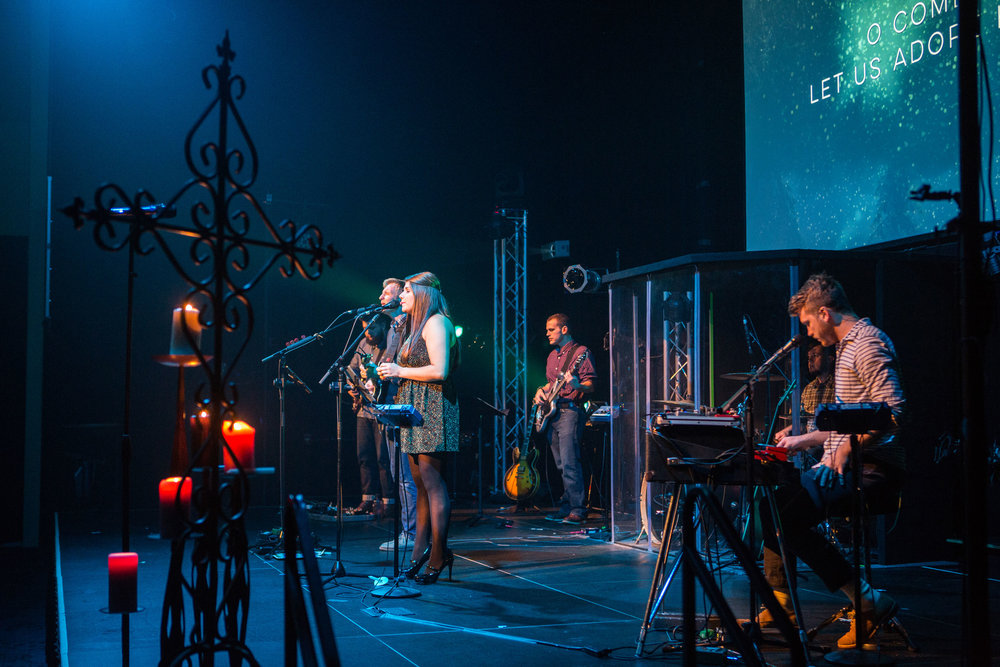 Our Genesis worship band leads on Christmas Eve, 2015. This year, Genesis worship will be in the Sanctuary at 10pm.