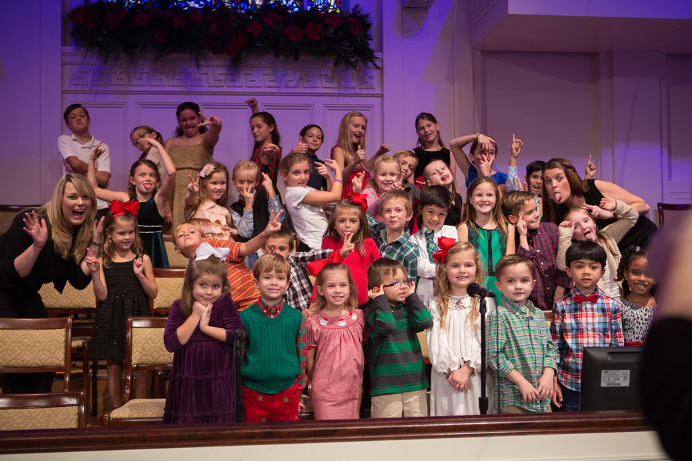 Our REJOICE! Children's choir celebrates the birth of the King of kings with appropriate joy, Christmas Eve 2015.