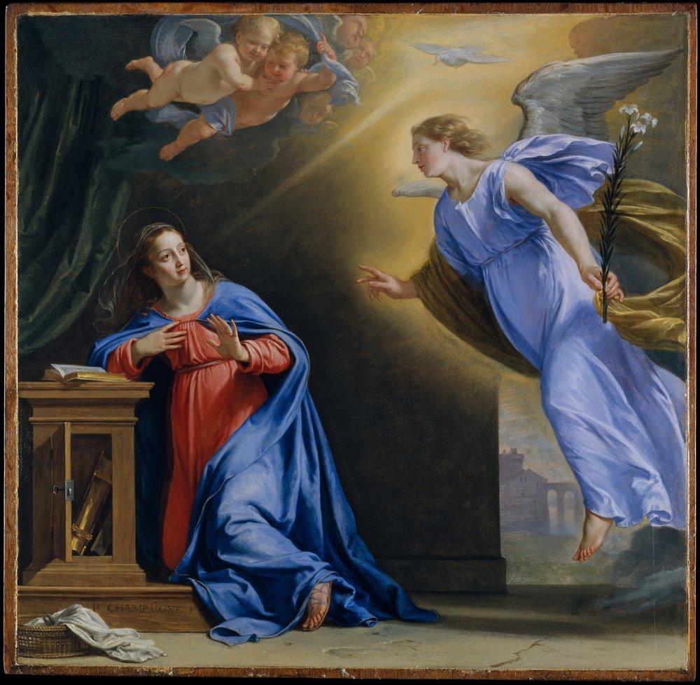 L'Annonciation, Philippe de Champaigne ca. 1644. The Metropolitan Museum of Art, New York, Wrightsman Fund, 2004.