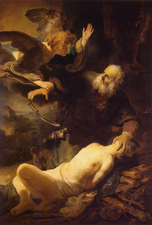 Sacrifice of Isaac, Rembrandt