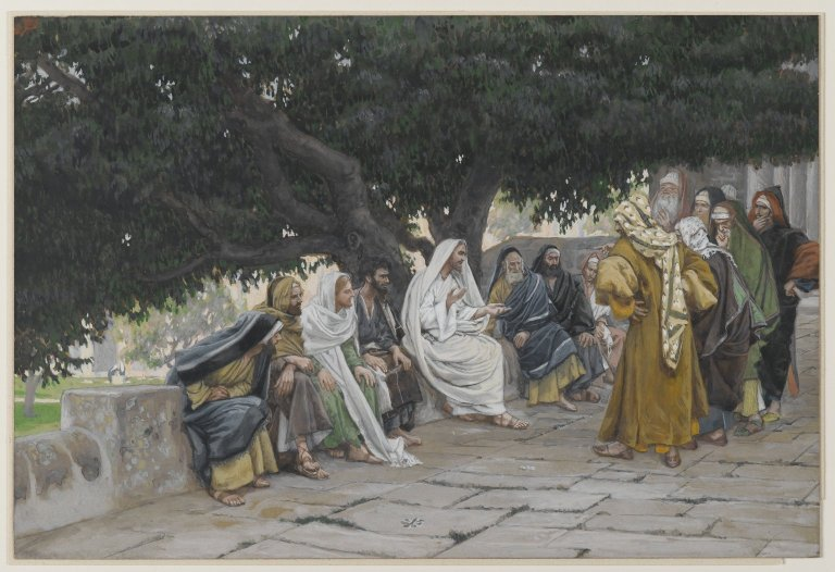 —Tissot, James.  The Pharisees and the Saduccees Come to Tempt Jesus . 1886 - 1894. Brooklyn Museum, Brooklyn